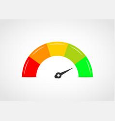 Color gauge speedometer vector