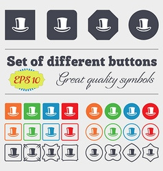 cylinder hat icon sign Big set of colorful diverse vector image