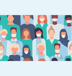 Doctors nurses healthcare workers medical staff vector