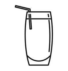 drink soda icon outline style vector image