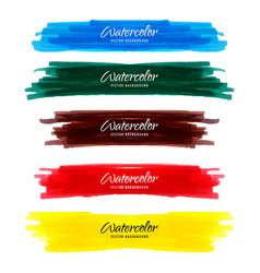 Element watercolors brush image vector