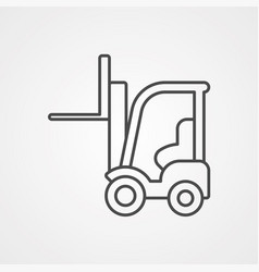 forklift icon sign symbol vector image