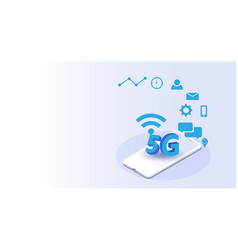 Global network futuristicinternet things vector