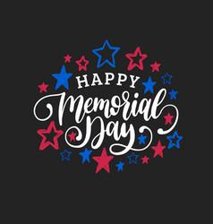 Happy memorial day handwritten phrase in vector
