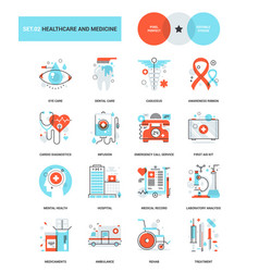 healthcare and medicine vector image