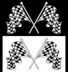 High quality double checkered flag vector