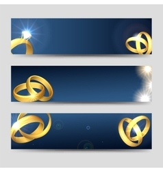 Horizontal wedding banners template vector image