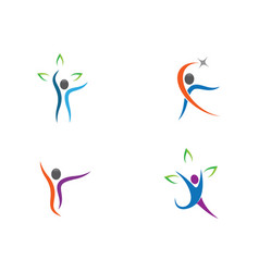 human health symbol design vector image