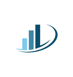 Info graphic business finance logo template vector