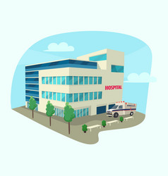 Isometric building of clinic or hospital vector