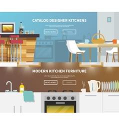 Kitchen Furniture Banner vector image