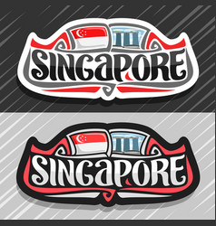 Logo for singapore vector