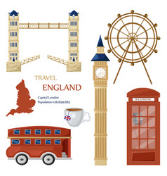 london symbols and architecture set collection vector image