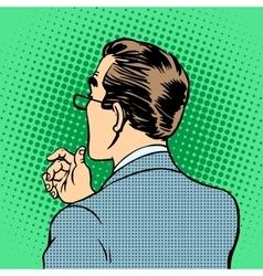 male businessman back vector image