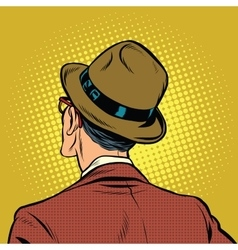 Male viewer stands back vector image