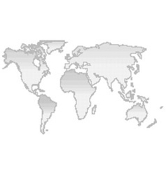 map of the world halftone silhouette vector image