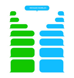 Message bubbles for text chat sms mms speech box vector