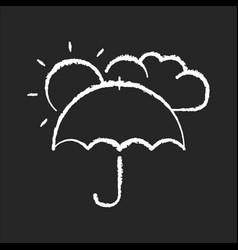 Meteorology chalk white icon on black background vector
