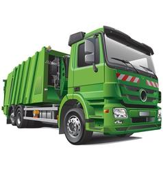 Modern garbage truck vector