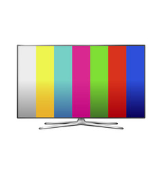 Modern lcd tv with painting vector