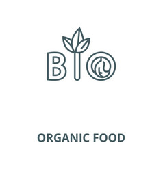 organic food line icon linear concept vector image