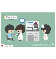 outpatient department opd in hospital vector image