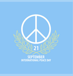 peace symbol banner vector image