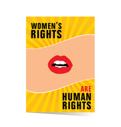 Poster of woman rights vector