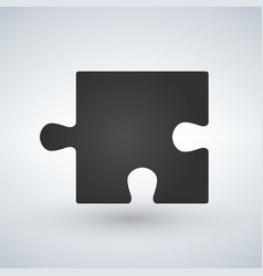 Puzzle piece flat icon for apps and websites vector