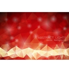 Red triangle geometrical background with lights vector