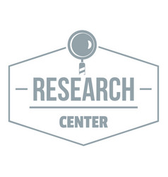 Research center logo simple gray style vector