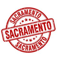 Sacramento red grunge round vintage rubber stamp vector