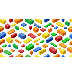 Seamless background isometric plastic building vector