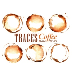 Set Traces Coffee vector