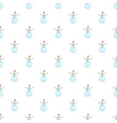 Snowman pattern cartoon style vector image
