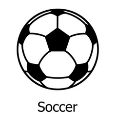 soccer ball icon simple black style vector image