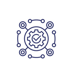 Software framework or automation line icon vector