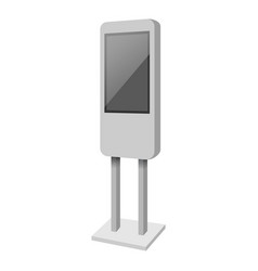 Standing display mockup realistic style vector
