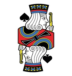 Stylized Jack of Spades no card vector image