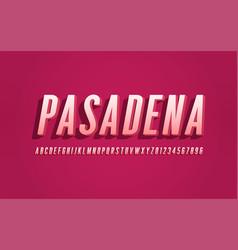 stylized san serif condensed alphabet font vector image
