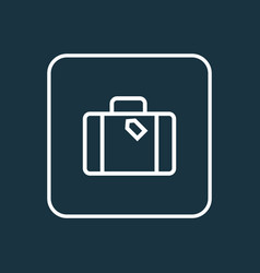 suitcase outline symbol premium quality isolated vector image