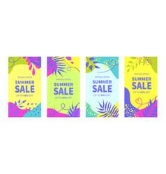 summer sale banner templates for social media vector image