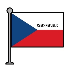Szech republic patriotic flag isolated icon vector