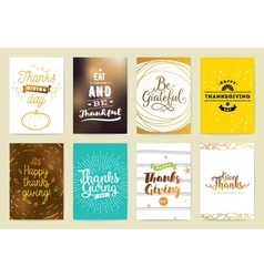 Thanksgiving day cards vector image