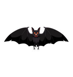 the bat holiday halloween character attribute vector image