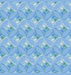 tiny floral flourish texture seamless vector image