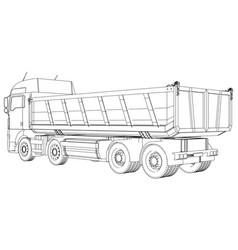 Tipper dump truck isolated created vector