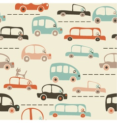 transport vintage background vector image