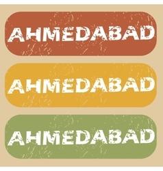 Vintage Ahmedabad stamp set vector