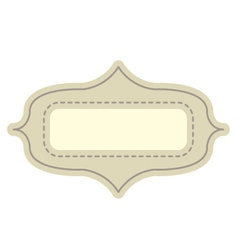Vintage tag vector